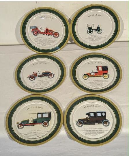 Decoratief object - 6 plates Renault - 1950-1950
