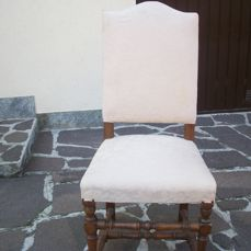 Dining room chair (8) - Cherry - First half 20th century