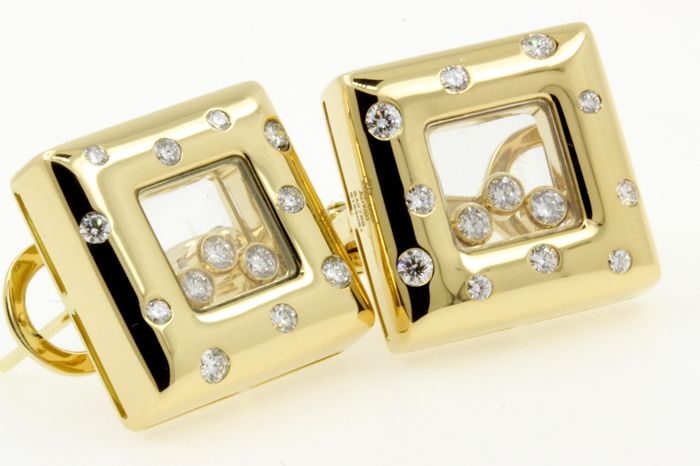 Chopard - 18 quilates Oro blanco - Certificado, Pendientes - 0.77 ct Diamante