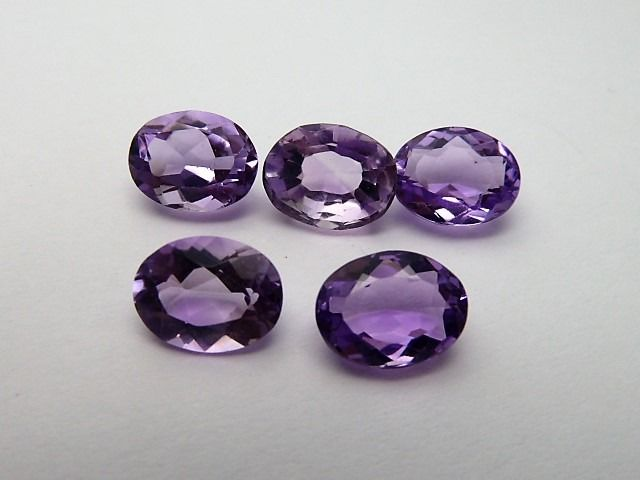 5 pcs  Amethyst - 9.29 ct