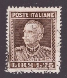 Royaume d'Italie 1929 - 1.75 lire brown perforated 13 3/4 - Sassone N. 242