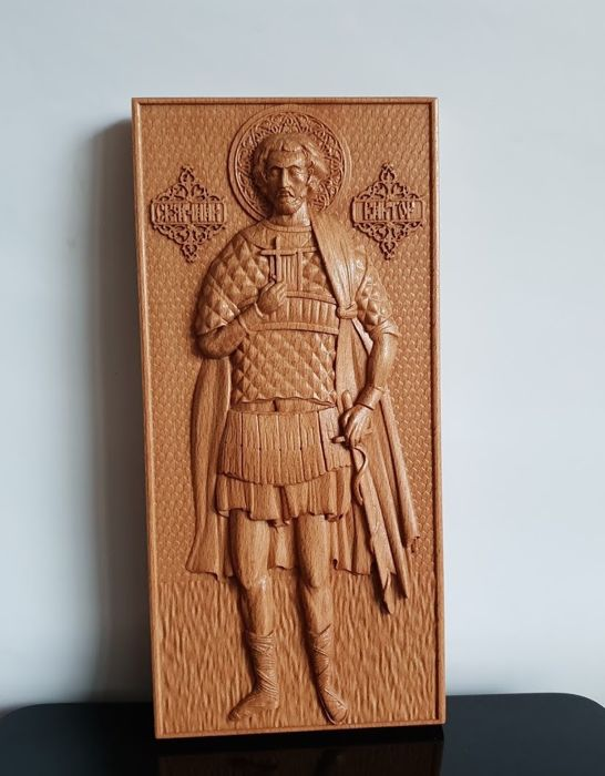 Saint Victor of Damascus - Russian Orthodox - NO RESERVE - Icon - Wood