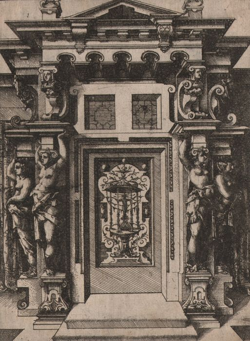 Wendel Dietterlin (1550-1599) - Facade with Caryatids  - Provenance: royal collection Munich