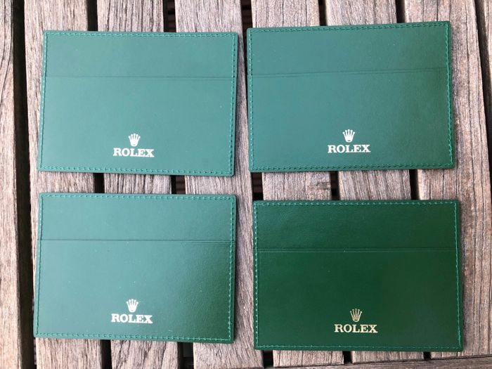 Rolex - 4x green card holder - See all photos - Unisex - 2000-2010