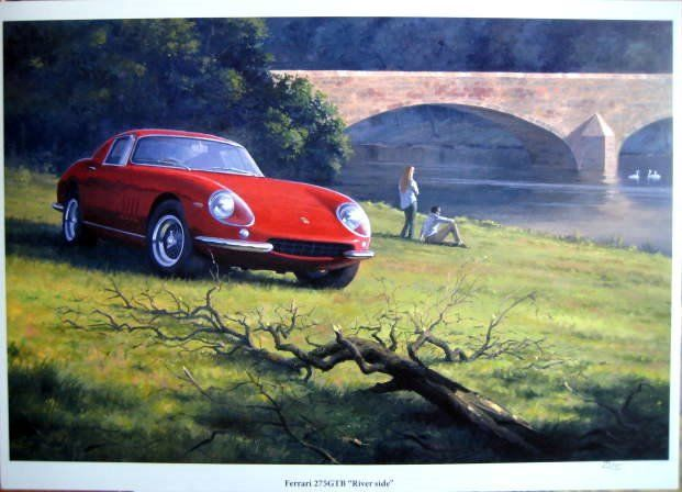 "Fine Art Print - Ferrari 275 GTB ""Riverside"" - 1965 (1 items)"
