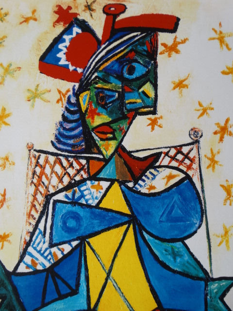 Pablo Picasso (after) - Woman Seated with Hat