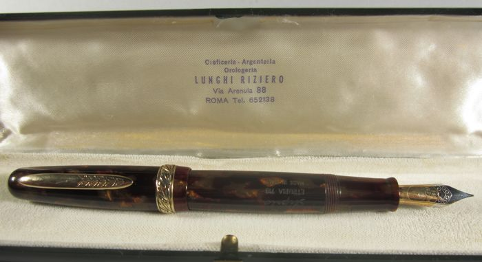 "Stipula - Rare and wonderful Etruria ""Arber brown"" fountain pen"
