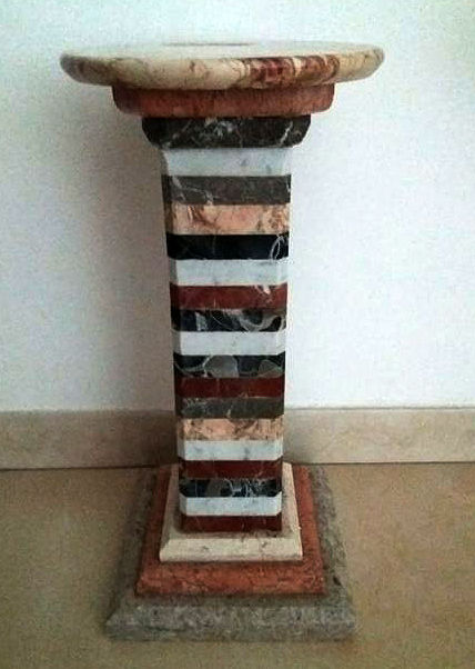 Lovely column with multicolour marble in a single block.