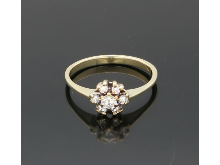 14 kt Gelbgold - Ring - 0.20 ct Diamant