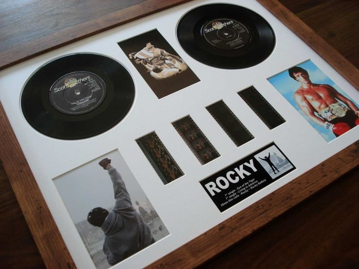 - Rocky - Cell and Vinyl record display - Rocky III (Eye of the Tiger) - Rocky IV (Living in America)
