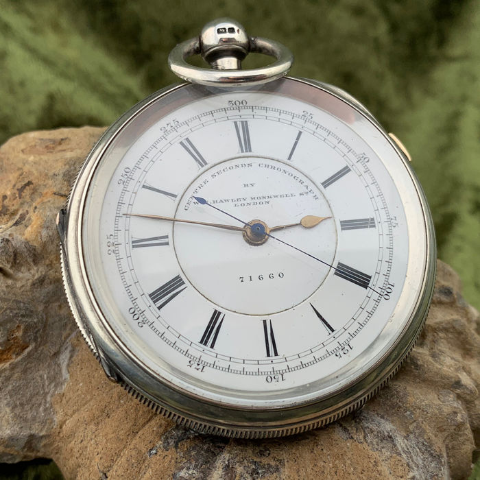 W H Hawley - Doctors central seconds chronograph pocket watch - NO RESERVE PRICE - Hombre - 1893