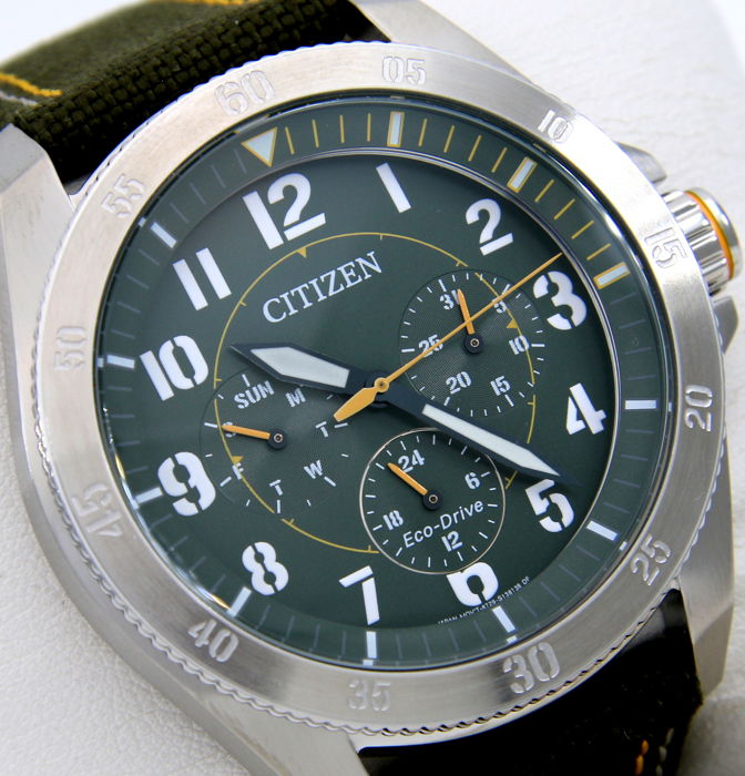 "Citizen - Eco Drive Military Sport Watch  - ""NO RESERVE PRICE"" - Heren - 2011-heden"