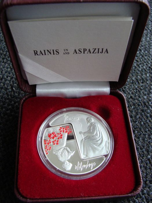 Latvia - 5 Euro 2015 'Rainis en Aspazija' in cassette - Hopea