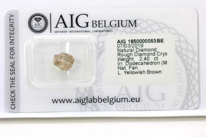 Diamant - 2.40 ct - Rough Diamond - I1 / I2