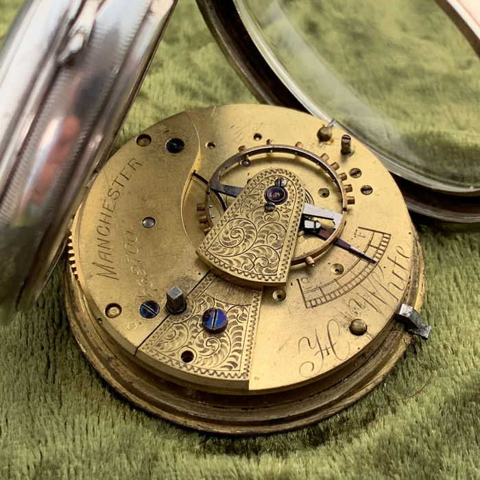 H White - English lever pocket watch - NO RESERVE PRICE - Hombre - 1893