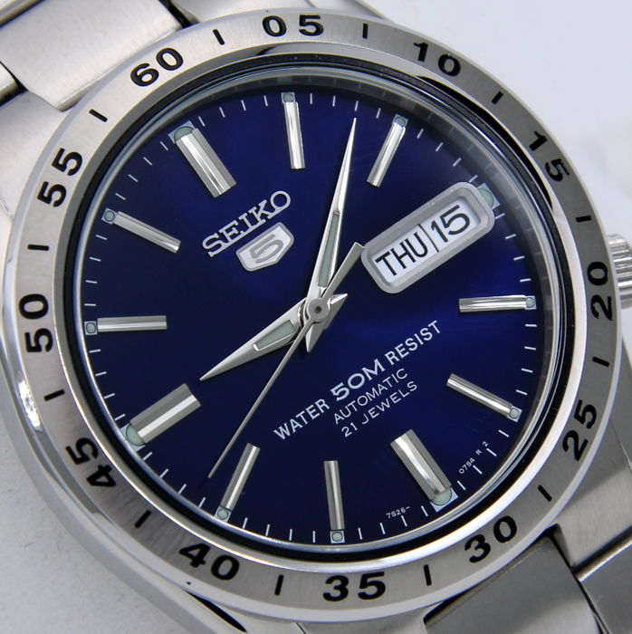 "Seiko - Unisex Automatic 21 Jewels ""Blue"" - - ""NO RESERVE PRICE"" - - Unisex - 2018"