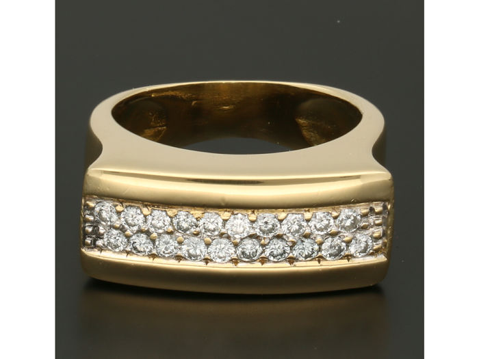 18 kt Gold - Ring - 0.40 ct Diamant