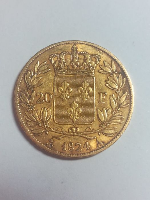 20 Francs 1824-A Louis XVIII - Or