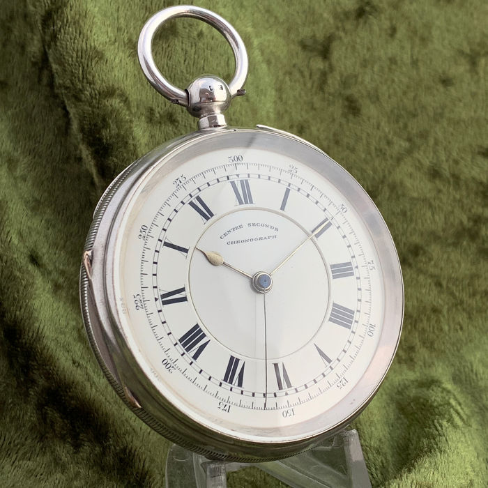 J Harris & Sons - Doctors central seconds chronograph pocket watch - Hombre - 1880s