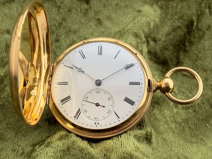H A Favre - Spring Detent Chronometer pocket watch - 18c gold - Hombre - 1880s