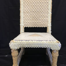 Chair - wood and buttons