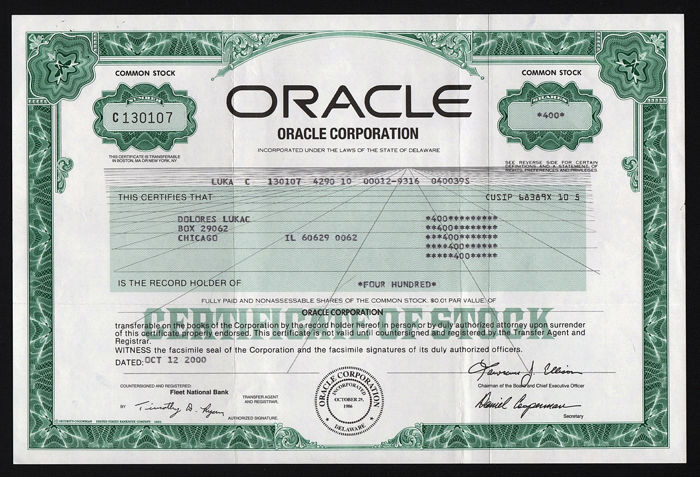 Verenigde Staten - Oracle Corporation - 2000 - Computer Software Bedrijf
