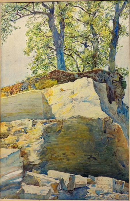 Enrico Coleman (Roma 1846 – 1911) - The Quarry of Chianciano