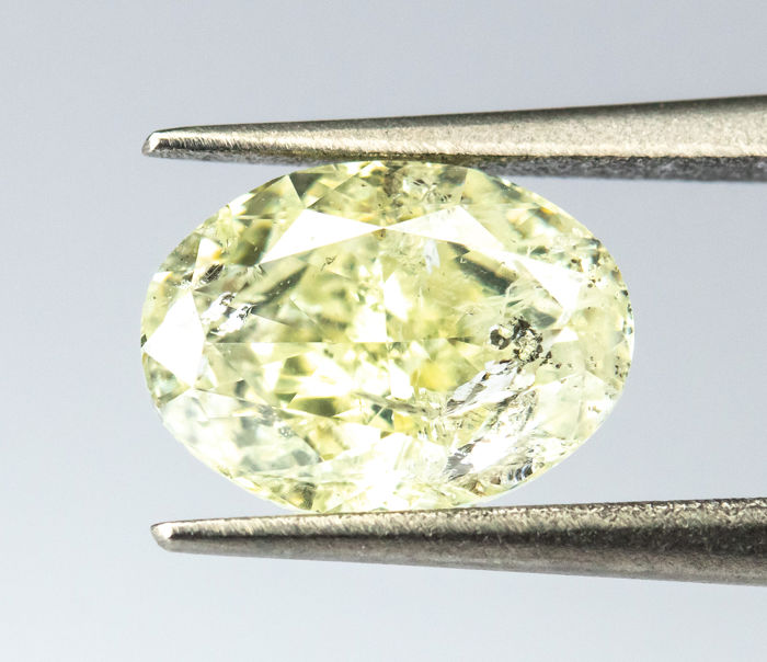 Diamante - 1.06 ct - Natural Fancy Light Yellow - I1  *NO RESERVE*