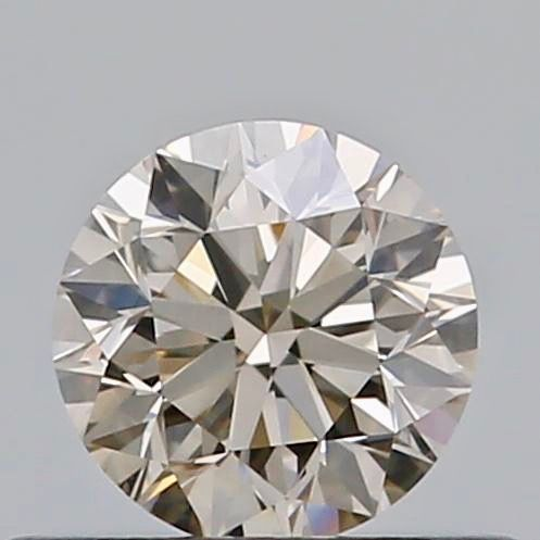 1 pcs Diamant - 0.40 ct - Rond - Faint brown - VS2
