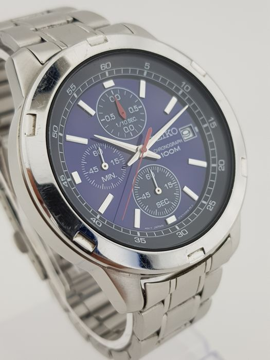 Seiko - Chronograph 100m Blue-Black - Heren - 2011-heden