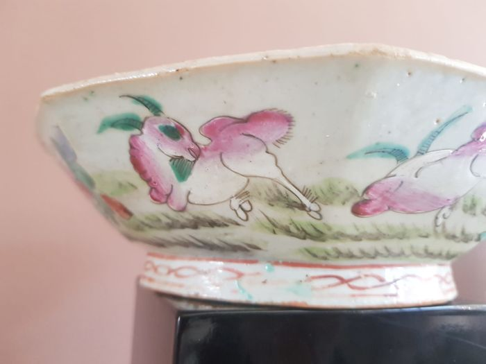Bowl (1) - Porcelain - Deer - China - Second half 20th century