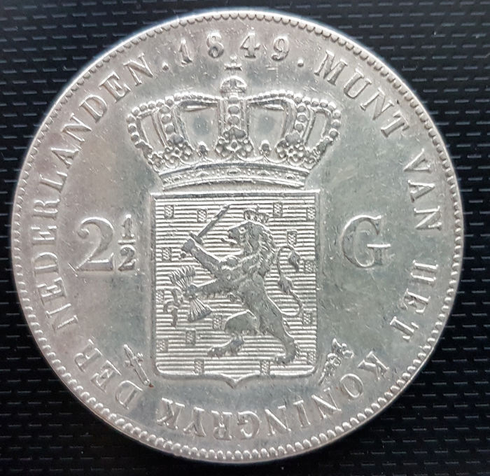 The Netherlands - 2 1/2 Gulden 1849 Willem II - Silver