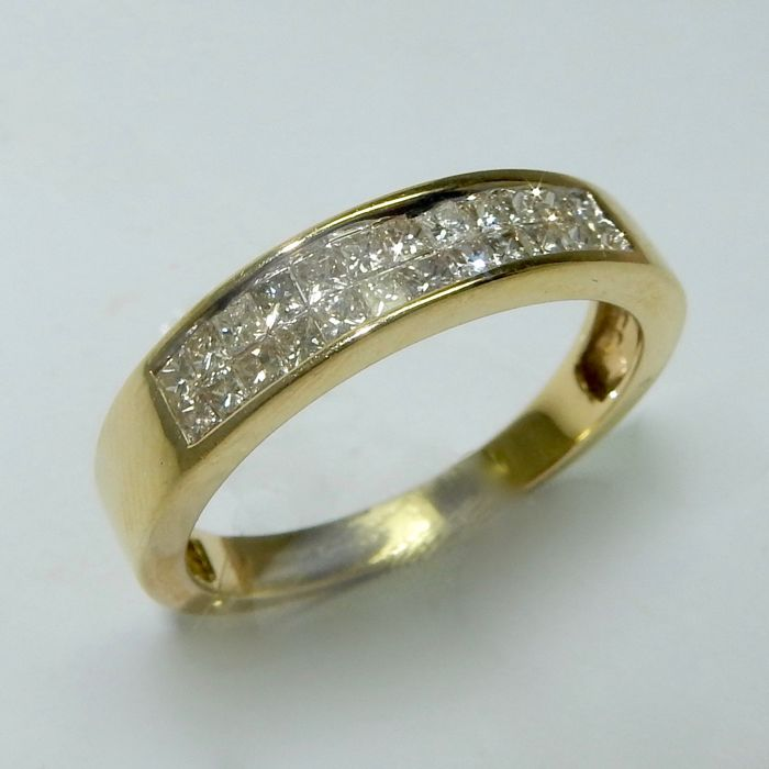 Av - 14 kt Gelbgold, Gold - Ring Diamant - Diamanten
