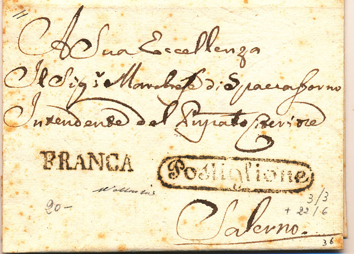 Oude Italiaanse staten 1796/1860 - lot of 49 letters mainly prephilatelics