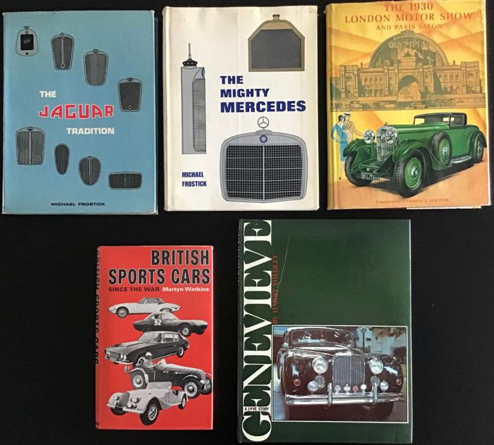 Libros - The Jaguar Tradition, Mighty Mercedes  en andere - 1970-1983
