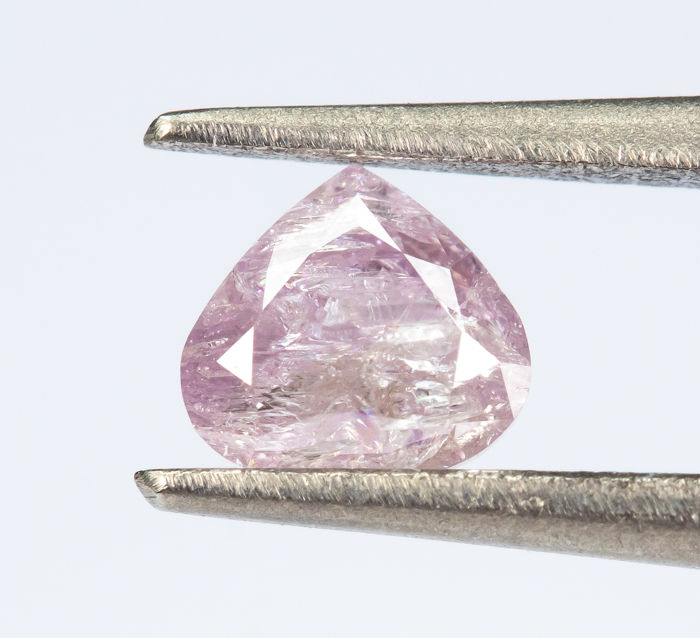 Diamond - 0.18 ct - Natural Fancy Purplish Pink - I3  *NO RESERVE*