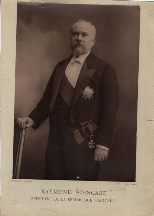 Raymond Poincaré Politic - Autograph; Original Signed Photo of the President of the French Republic - 1920/1930