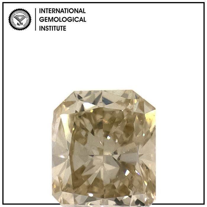 Diamant - 0.21 ct - Radiant - fancy light brown - VS2