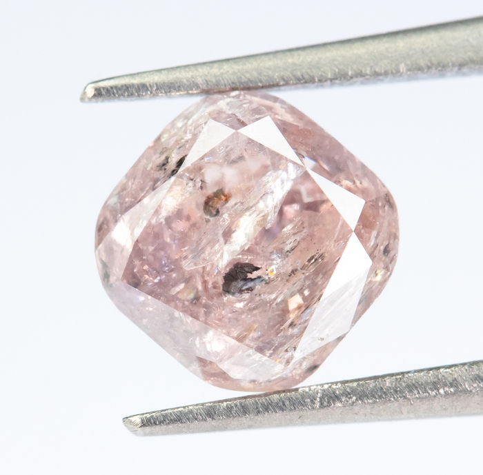 Diamant - 0.79 ct - Natural Fancy Brownish Pink - I3  *NO RESERVE*
