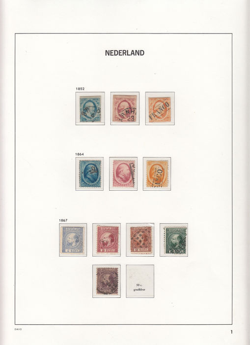Niederlande 1852/1969 - Collection in DAVO LX albums