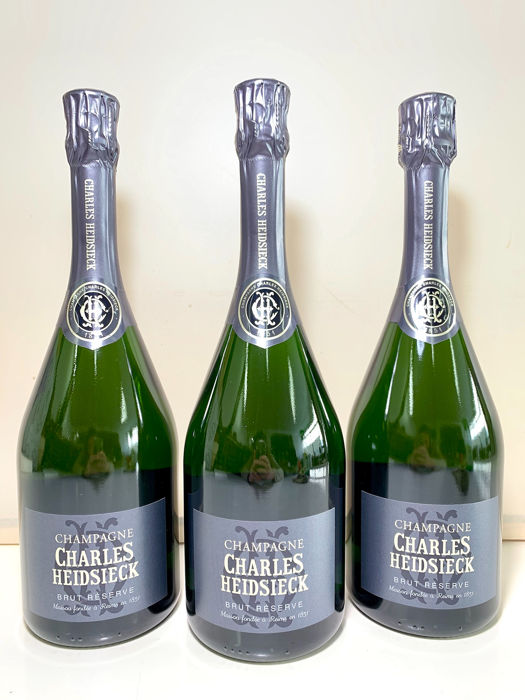 "Charles Heidsieck ""Brut Reserve""  - Champagne - 3 Bouteilles (0,75 L)"