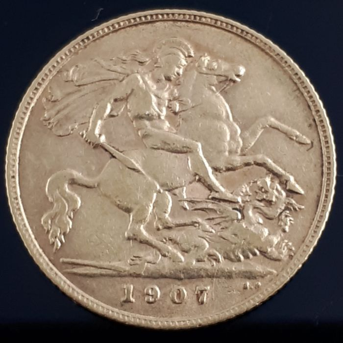 United Kingdom - ½ Sovereign 1907- Edward VII - Gold