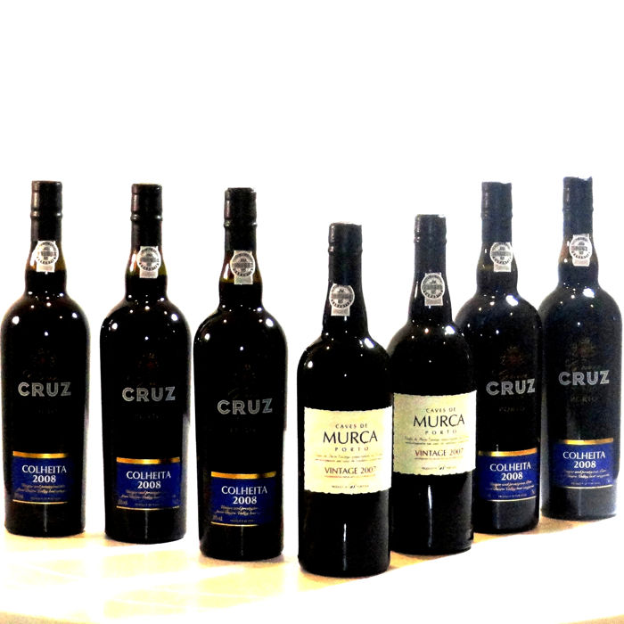 Mixed lot -  2x 2007 Caves Murça Vintage Port & 5x 2008 Cruz Colheita Port - bottled in 2018 - 7 Bottles (0.75L)