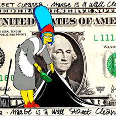 Moabit - Marge Simpsons - Marge is a Wall Street Cleaner (Oversized)