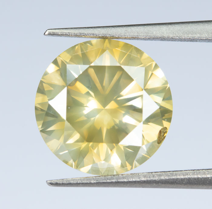 Diamant - 2.34 ct - Natural Fancy Brownish Yellow  - SI2 *NO RESERVE*