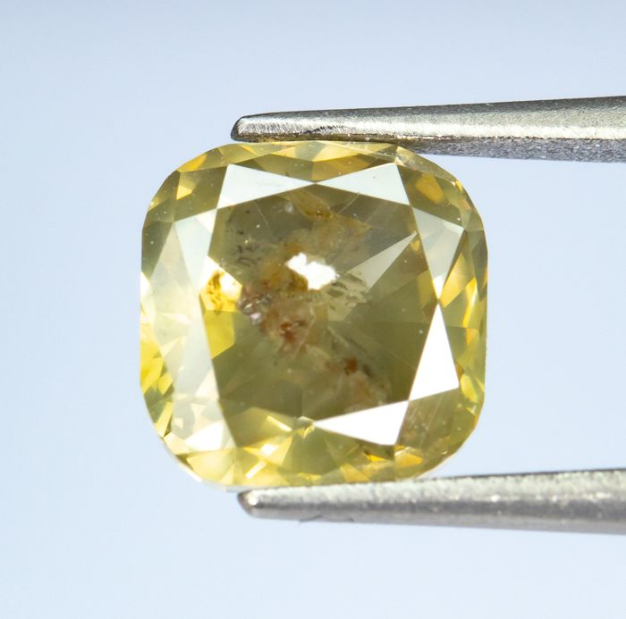 Diamant - 1.17 ct - Natural Fancy Brown-Yellow  - I2  *NO RESERVE*