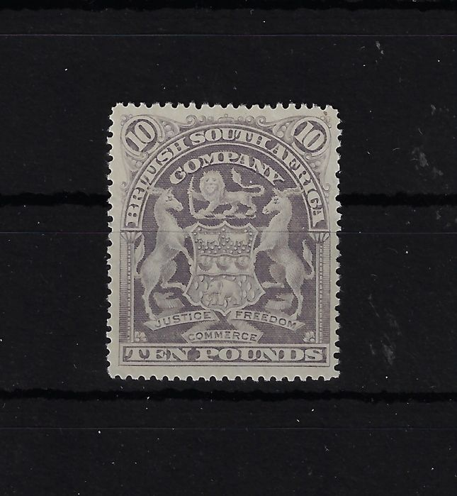 British South Africa Company 1898/1908 - 10 £ violet new without gum  - Scott 75