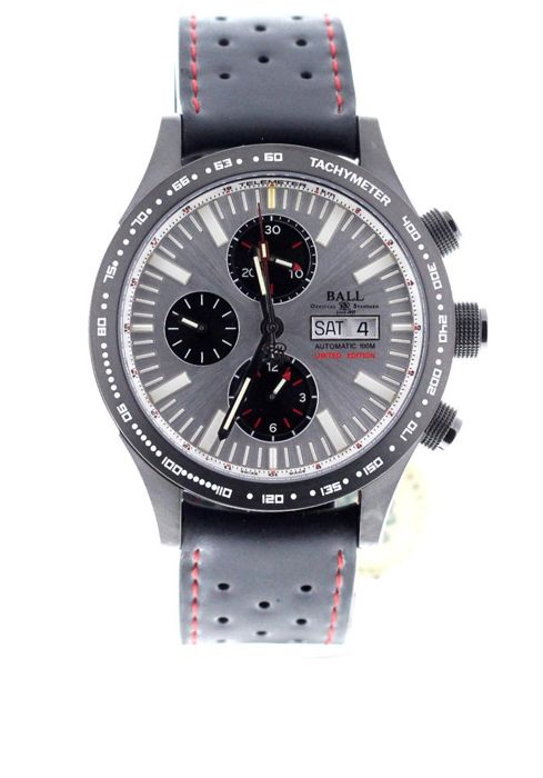 BALL - Fireman Storm Chaser Chronograph Automatic Silver Dial Limited Edition - CM2192C-P3-SL - Unisex - 2019