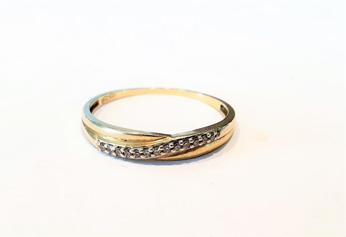 14 quilates Oro amarillo - Anillo Diamante