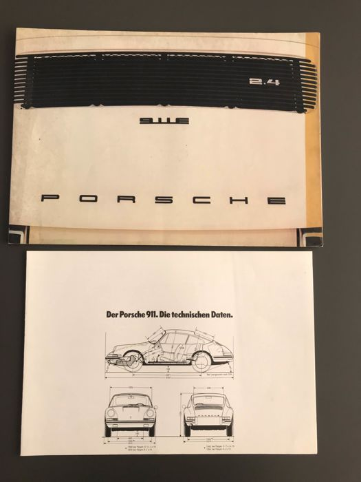 Brochures / Catalogues - Porsche - Porsche 911 T E S oelklappe folder technische daten  - 1971-1972